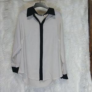APT 9 sheer polyester blouse